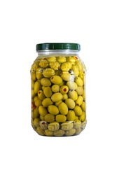 Green olives stuffed with pimiento in a 3L PET Container