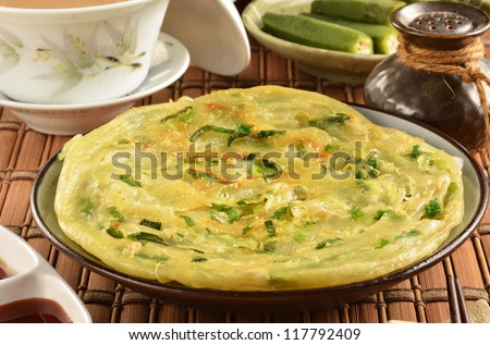 Green onion pancakes are a fried Chinese flatbread often eaten as a snack or with a meal.
