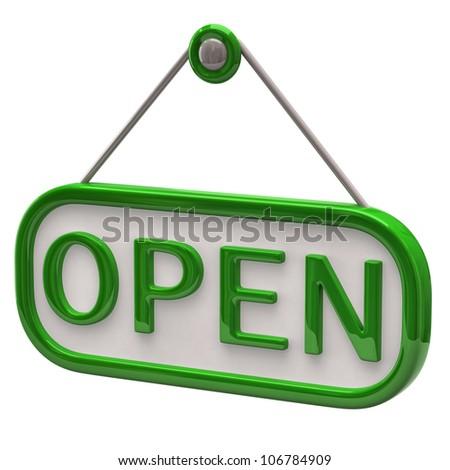 Green open sign