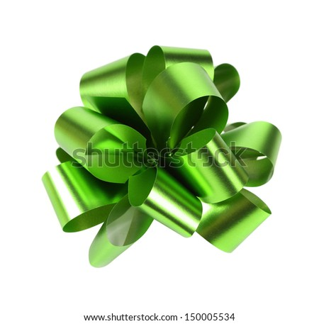 Green packaging band isolated on white