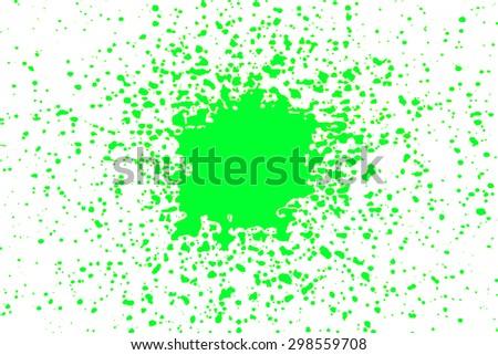 green paint splash isolated on white background, Isolated shot of paint splashing on white