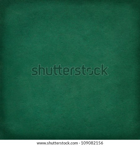 Green paper background with frame