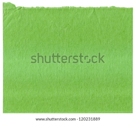 Green  paper texture for artwork A White Background