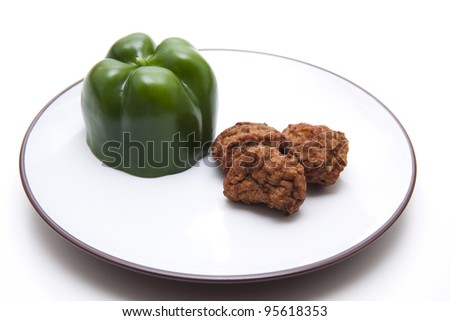 Green paprika with ground meat