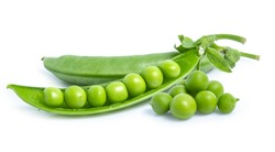 green pea vegetable bean isolated on white background
