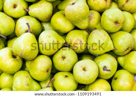 Green pear juicy fresh fruit natural background