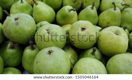 green pears at a fair in the city of Belo Horizonte / Brazil