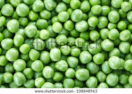 green peas background - stock photo