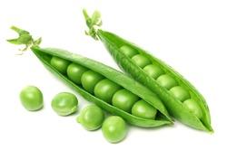 Green peas in closeup