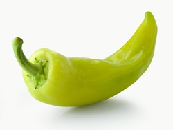 green pepper isolated on a white background