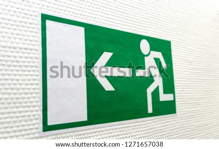 Green Pictogram for Escape Way #1271657038