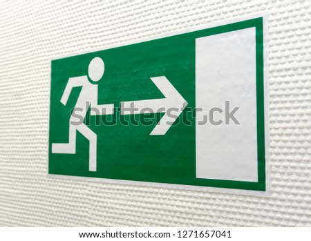 Green Pictogram for Escape Way #1271657041