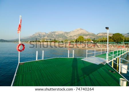 green pier in turkey