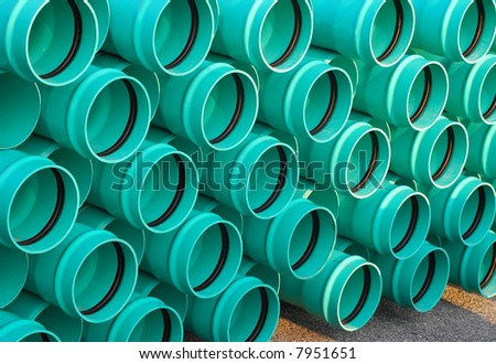 Green Pipes - Angle view