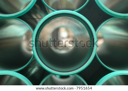 Green Pipes - Frontal view
