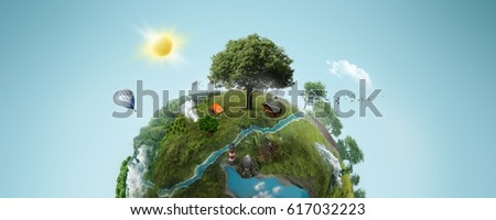 Stock Photo green planet; 3d illustration