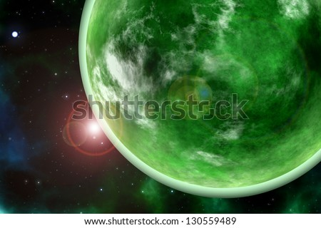 green planet. Element s of this image furnished by NASA