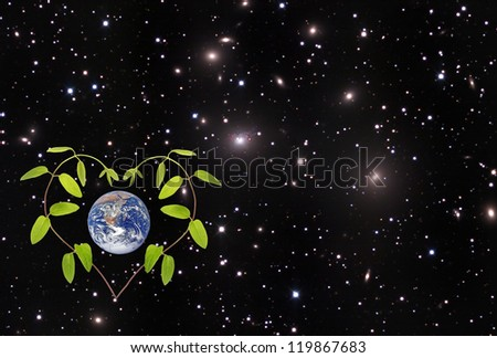 Green planet.Elements of this image furnished by NASA