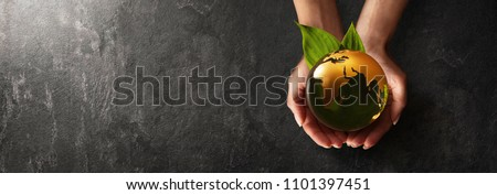 Green Planet in Your Hands. Save Earth. Environment Concept #1101397451
