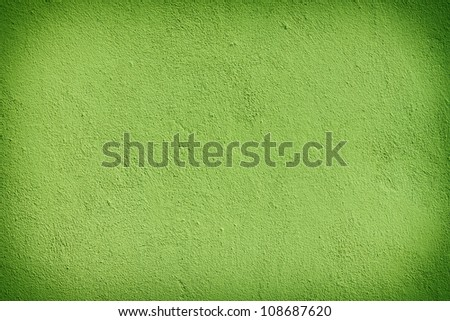 Green plaster wall with old texture