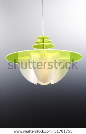 green plastic modem chandelier