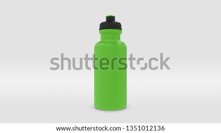 Green Plastic Squeeze Bottle for Souvenir and Product Mockup Isolated on Studio or Infinite Background (3D rendering)  Stockfoto ©