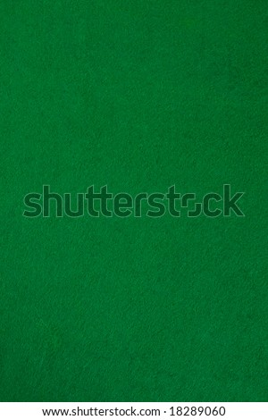 Green poker table. Nice for background. Top view.