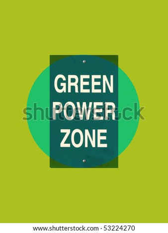 green power zone sign - stock photo