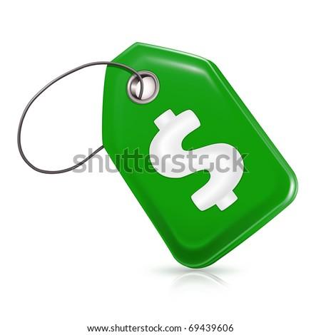 Green price tag, Bitmap copy