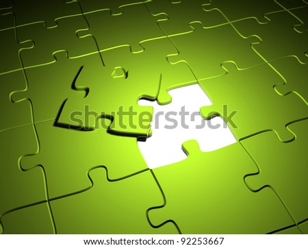 Green puzzle the last missing piece