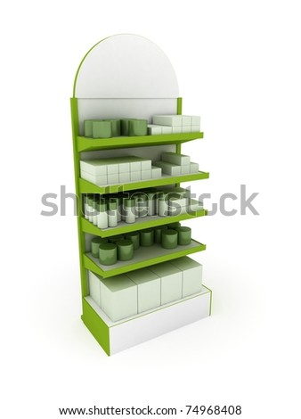 Green Retail Stand