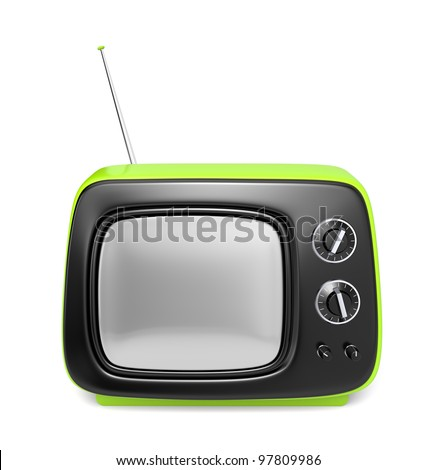 Green retro TV. See more TV in my gallery