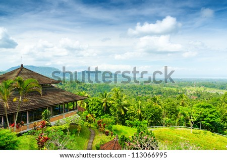 Green rice terraces. Bali, Indonesia.