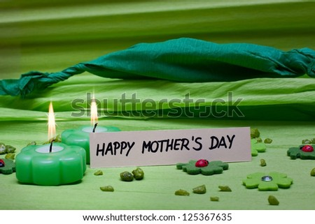 green romantic background decoration for Mothers Day