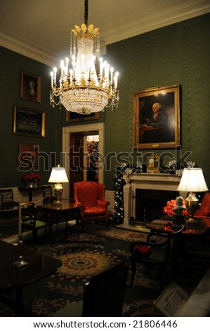 Green Room of the White House in Washington DC