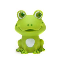 Green rubber frog