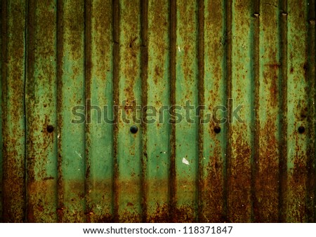 Green Rusty wall ,use as background