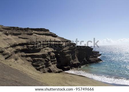 Green Sands Beach - stock photo