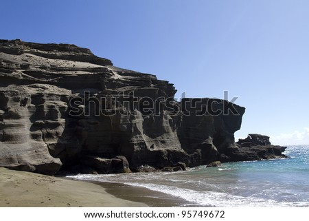 Green Sands Beach, Papak?lea