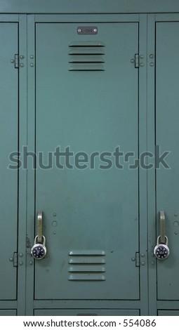 Green School Locker - stock photo