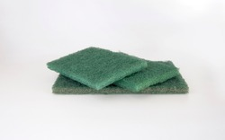Green scouring pad can be used to scrub various stains, clean, save, force, stick, durable