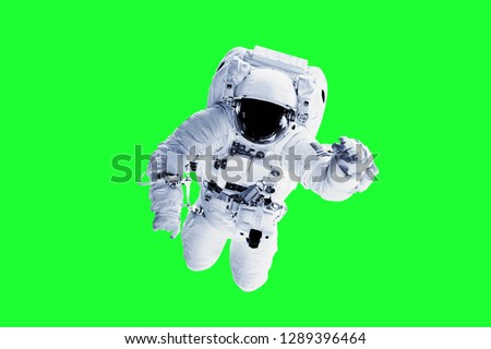 Green Screen Astronaut - Elements of this Image Furnished by NASA #1289396464