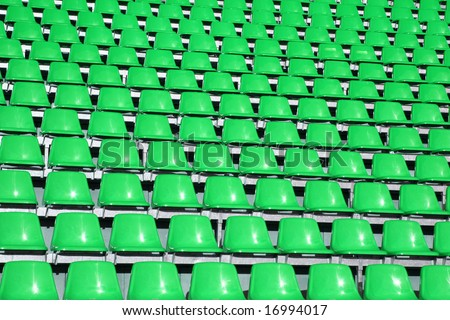 Green seats in a Sports Venue without people