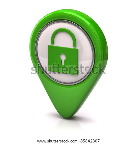 Green security icon