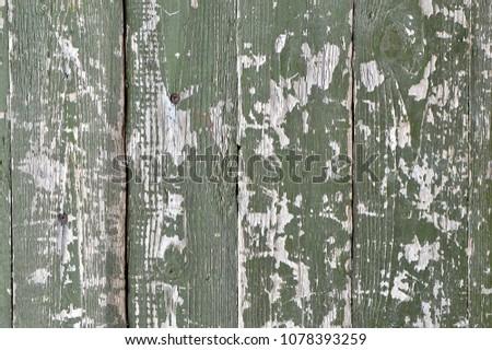green shabby old background, shabby paint #1078393259
