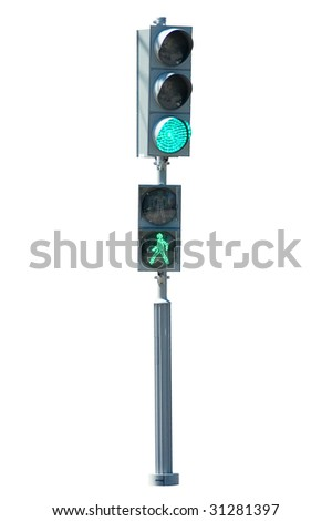 Green signal on traffic light