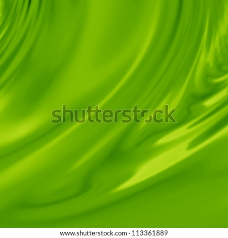 Green silk background with some soft folds and highlights