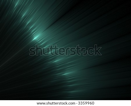 Green, silky rippling textures, softly illuminated - fractal abstract background
