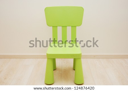 Green small chair for child