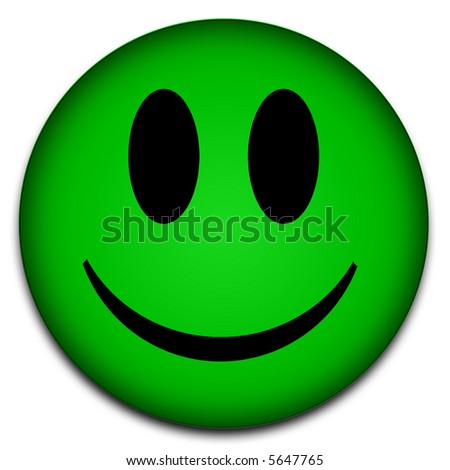 stock photo Green smiley face symbol